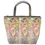 Die Rose By Alfons Mucha 1898 Bucket Bag from Manda s Macabre Front