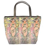 Die Rose By Alfons Mucha 1898 Bucket Bag from Manda s Macabre Back