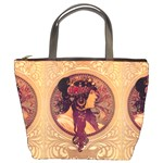 Donna Orechini By Alphonse Mucha Bucket Bag from Manda s Macabre Front