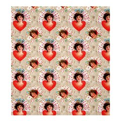 Vintage Valentine Shower Curtain 66  x 72  (Large) from Manda s Macabre 58.75 x64.8  Curtain