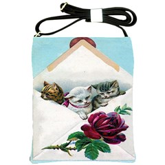 Valentine Kittens Shoulder Sling Bag from Manda s Macabre Front