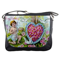 To My Valentine Messenger Bag from Manda s Macabre Front