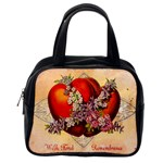 Vintage Valentine Hearts Classic Handbag (Two Sides) from Manda s Macabre Back