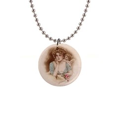 Vintage Valentine 1  Button Necklace from Manda s Macabre Front