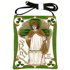 Victorian St Patrick s Day Shoulder Sling Bag from Manda s Macabre Front
