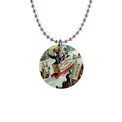 Clear The Track 1  Button Necklace from Manda s Macabre Front