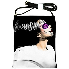 Bride of The Day of The Dead Shoulder Sling Bag from Manda s Macabre Front