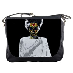 The Bride Of Day Of Dead Messenger Bag from Manda s Macabre Front