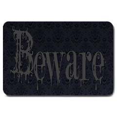 Beware Large Doormat from Manda s Macabre 30 x20  Door Mat