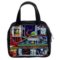 Halloween Haunted House Classic Handbag (Two Sides) from Manda s Macabre Front