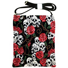 Day of The Dead Shoulder Sling Bag from Manda s Macabre Front