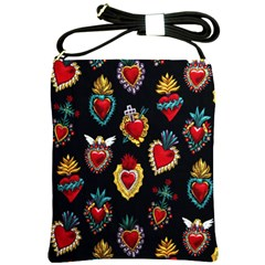 Sacred Heart Shoulder Sling Bag from Manda s Macabre Front