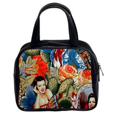 Spanish Flowers Pin Ups Classic Handbag (Two Sides) from Manda s Macabre Front