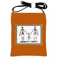 Skeleton Family Shoulder Sling Bag from Manda s Macabre Front