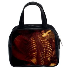 Anatomy Skeletal Female Classic Handbag (Two Sides) from Manda s Macabre Front