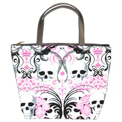 Skulls Pink Bucket Bag from Manda s Macabre Front
