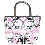 Skulls Pink Bucket Bag from Manda s Macabre Back
