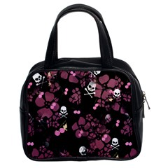 Skulls & Cherries Classic Handbag (Two Sides) from Manda s Macabre Front