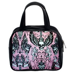 Skulls Tattoo Style Classic Handbag (Two Sides) from Manda s Macabre Front