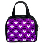 Bats & Hearts  Classic Handbag (Two Sides) from Manda s Macabre Front