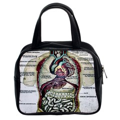 French Anatomy Classic Handbag (Two Sides) from Manda s Macabre Front