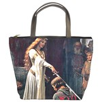 Accolade by Edmund Blair Leighton Bucket Bag from Manda s Macabre Front