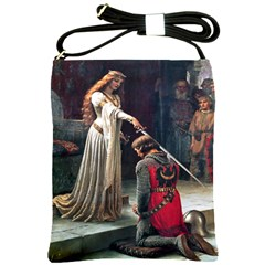 Accolade by Edmund Blair Leighton Shoulder Sling Bag from Manda s Macabre Front