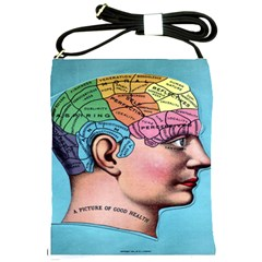 Phrenology Shoulder Sling Bag from Manda s Macabre Front