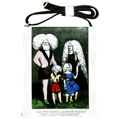 The Amazing Albino Family  Shoulder Sling Bag from Manda s Macabre Front