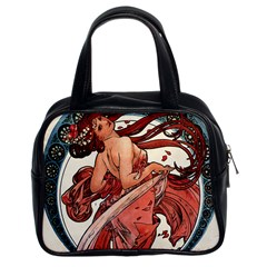 Dance by Alfons Mucha 1898 Classic Handbag (Two Sides) from Manda s Macabre Front