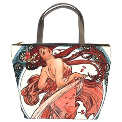 Dance by Alfons Mucha 1898 Bucket Bag from Manda s Macabre Front