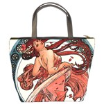 Dance by Alfons Mucha 1898 Bucket Bag from Manda s Macabre Back