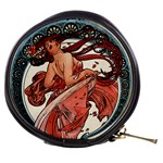 Dance by Alfons Mucha 1898 Mini Makeup Bag from Manda s Macabre Front