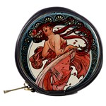 Dance by Alfons Mucha 1898 Mini Makeup Bag from Manda s Macabre Back