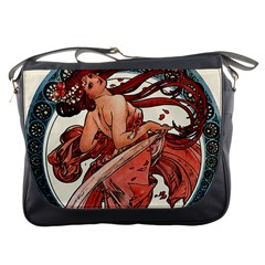 Dance by Alfons Mucha 1898 Messenger Bag from Manda s Macabre Front