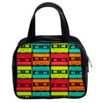 Cassette Tape Classic Handbag (Two Sides) from Manda s Macabre Front