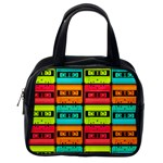 Cassette Tape Classic Handbag (Two Sides) from Manda s Macabre Back
