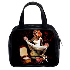 Zombie Pin Up Classic Handbag (Two Sides) from Manda s Macabre Front