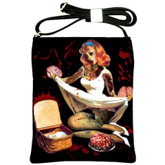 Zombie Pin Up Shoulder Sling Bag from Manda s Macabre Front