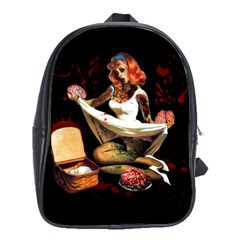Zombie Pin Up School Bag (Large) from Manda s Macabre Front
