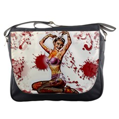 Zombie Pin Up Messenger Bag from Manda s Macabre Front