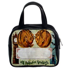 Kissing Pumpkins Classic Handbag (Two Sides) from Manda s Macabre Front