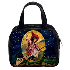 Jolly Hallowe en Classic Handbag (Two Sides) from Manda s Macabre Front