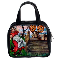 What The Boys Did To The Cows Classic Handbag (Two Sides) from Manda s Macabre Front