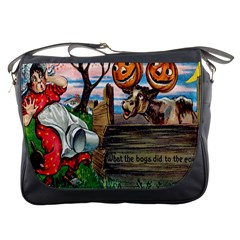 What The Boys Did To The Cows Messenger Bag from Manda s Macabre Front